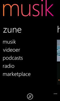 Zune-skærm
