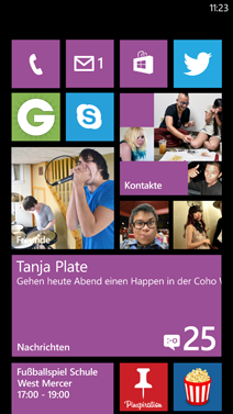 Windows Phone 7.8-Startseite