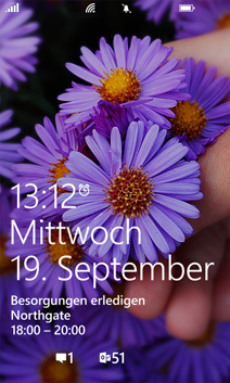 Sperrbildschirm von Windows Phone 8