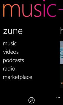 Zune screen