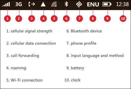 windows phone symbols three wavy lines