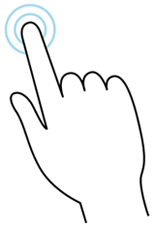 Double-tap gesture illustration
