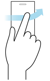 Flick gesture illustration
