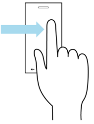 Pan gesture illustration
