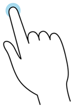 Tap gesture illustration