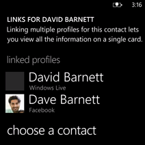 Linked contacts in People hub