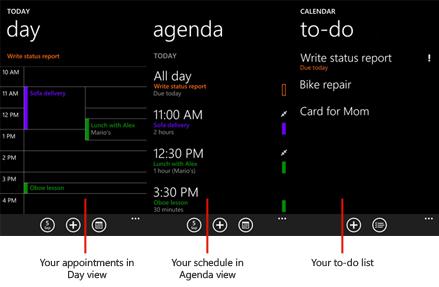Use calendars on windows phone windows phone how to united states