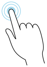 Tap and hold gesture illustration