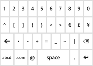 Keyboard with more symbols