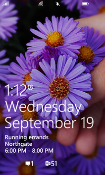 Lock screen in Windows Phone 8