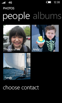 See photos from your contacts