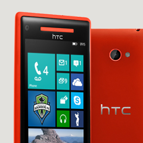 Windows Phone 8X by HTC Gorilla glass screen