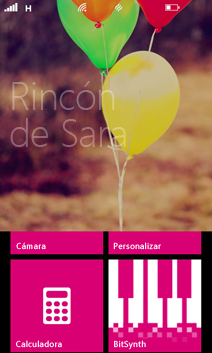 Rincón infantil en Windows Phone 8