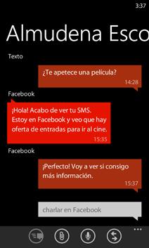 Conversación de mensajes de texto