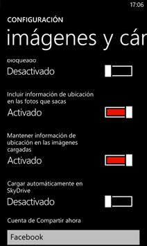 Configuración de imágenes y cámara