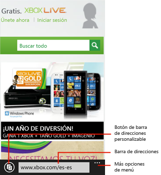 Internet Explorer 10 para Windows Phone