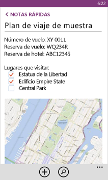 Abrir un archivo de OneNote en Windows Phone