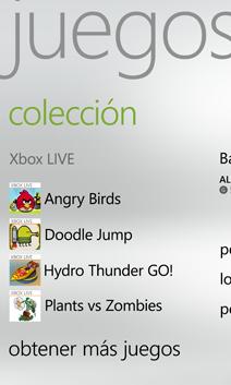 Colección de juegos en el teléfono