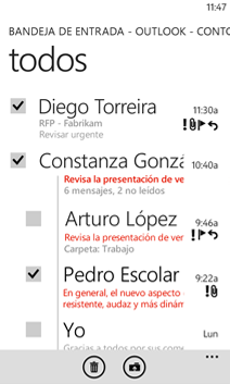 Correo en Windows Phone