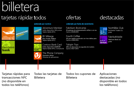 Billetera para Windows Phone