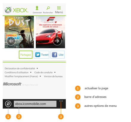 Ouverture de pages web aide et astuces windows phone for Probleme ouverture fenetre internet explorer