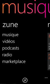 Écran de Zune