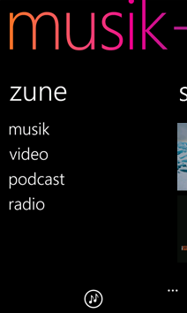 Layar Zune