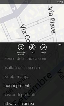 Altri menu di Mappe
