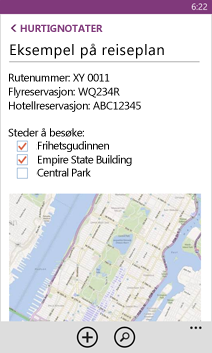 Åpne OneNote-filer på Windows Phone