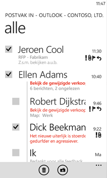 E-mail op de Windows Phone