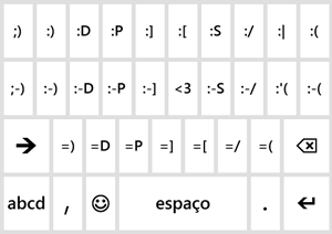 Teclado de emoticon