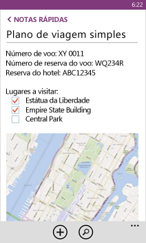 Abrir arquivo do OneNote no Windows Phone