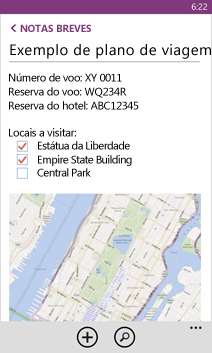 Abrir um ficheiro do OneNote no Windows Phone
