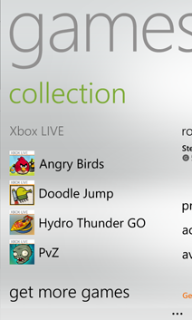 Your games collection on your phone