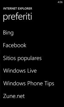 Elenco Preferiti in Internet Explorer
