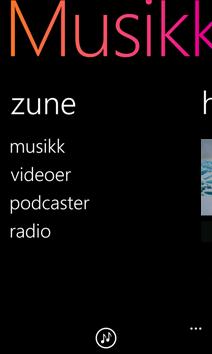 Zune-skjermen